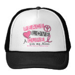 Breast Cancer PEACE, LOVE, A CURE 1 (Nana) Trucker Hats
