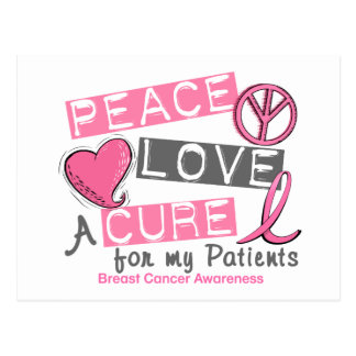 Breast Cancer PEACE, LOVE, A CURE 1 (Patients) Postcard