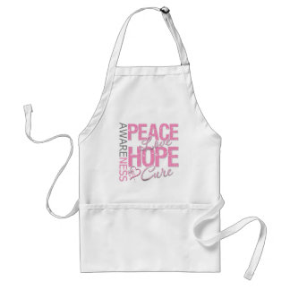 Breast Cancer Peace Love Cure Aprons