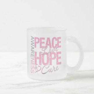 Breast Cancer Peace Love Cure Coffee Mug
