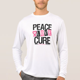 Breast Cancer Peace Love Cure T Shirts