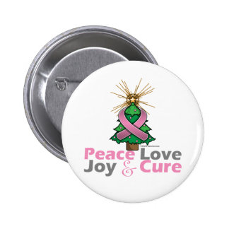 Breast Cancer Peace Love Joy Cure Buttons