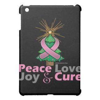 Breast Cancer Peace Love Joy Cure iPad Mini Cases