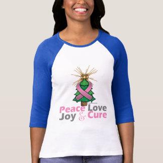 Breast Cancer Peace Love Joy Cure T-Shirt