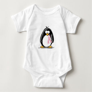 Breast Cancer Penguin Baby Bodysuit