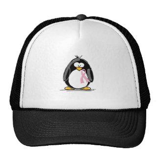 Breast Cancer Penguin Trucker Hat