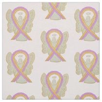 Breast Cancer Phyllodes Tumor Ribbon Angel Fabric