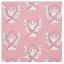 Breast Cancer Pink Awareness Ribbon Angel Material Fabric