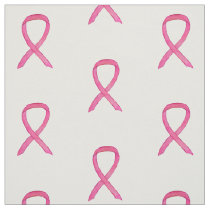 Breast Cancer Pink Awareness Ribbon Art Material Fabric