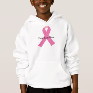 breast cancer pink awareness ribbon hoodie