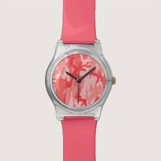 Breast Cancer Pink Camo Wristwatch