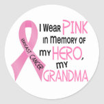 Breast Cancer PINK IN MEMORY OF MY GRANDMA 1 Sticker