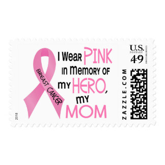 Breast Cancer PINK IN MEMORY OF MY MOM 1 Postage