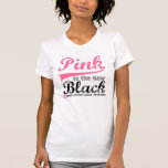 Breast Cancer Pink is The New Black T Shirts