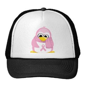 Breast Cancer Pink Penguin Trucker Hat
