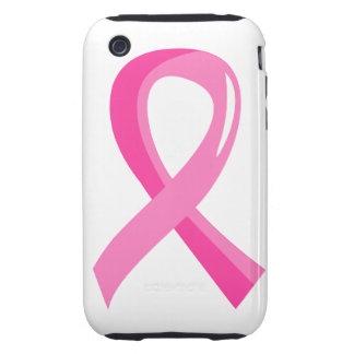 Breast Cancer Pink Ribbon 3 iPhone 3 Tough Cover