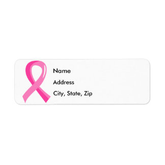 Breast Cancer Pink Ribbon 3 Label