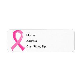 Breast Cancer Pink Ribbon 3 Return Address Label