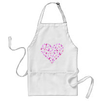 Breast Cancer Pink Ribbon Adult Apron