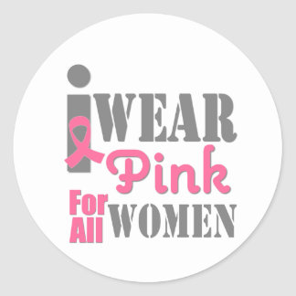 BREAST CANCER PINK RIBBON All Women Sticker