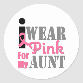 BREAST CANCER PINK RIBBON Aunt Stickers