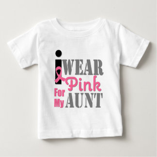 BREAST CANCER PINK RIBBON Aunt T-shirt