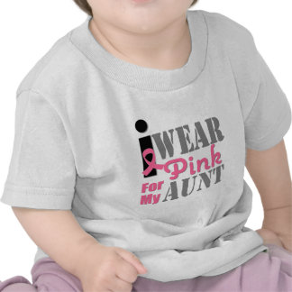 BREAST CANCER PINK RIBBON Aunt Shirts