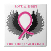 Breast Cancer Pink Ribbon Awareness Ceramic Tile