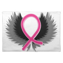Breast Cancer Pink Ribbon Awareness Cloth Placemat
