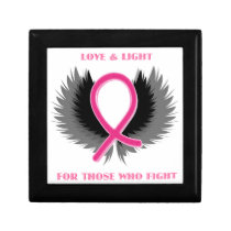 Breast Cancer Pink Ribbon Awareness Gift Box
