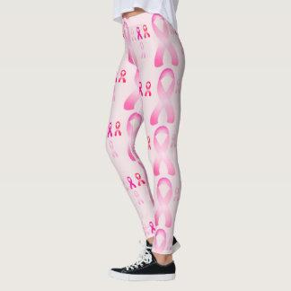 Breast Cancer Pink Ribbon Awareness Leggings