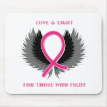 Breast Cancer Pink Ribbon Awareness Mouse Pad
