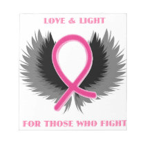 Breast Cancer Pink Ribbon Awareness Notepad
