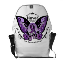 Breast Cancer Pink Ribbon Awareness Sister Mom Courier Bag
