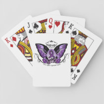 Breast Cancer Pink Ribbon Awareness Sister Mom Playing Cards