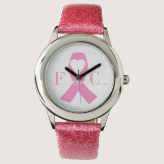 Breast Cancer Pink Ribbon Awareness & Support Watches