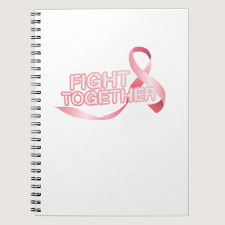Breast Cancer Pink Ribbon Awareness Survivor Notebook
