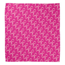 Breast Cancer Pink Ribbon Bandana