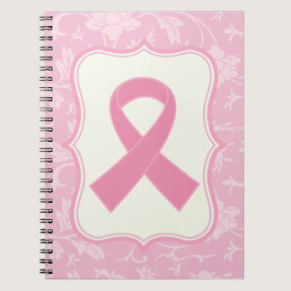 Breast Cancer Pink Ribbon blessings Gift Spiral Notebook