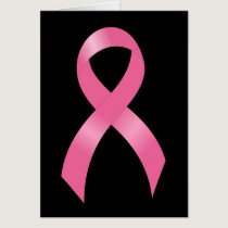 Breast Cancer Pink Ribbon Card
