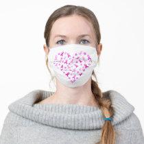 Breast Cancer Pink Ribbon Cloth Face Mask