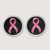 Breast Cancer Pink Ribbon Cufflinks