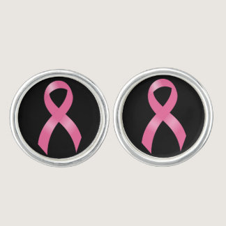 Breast Cancer Pink Ribbon Cufflinks