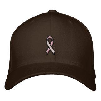 Breast Cancer Pink Ribbon Embroidered Baseball Cap