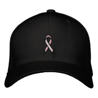 Breast Cancer Pink Ribbon Embroidered Baseball Hat