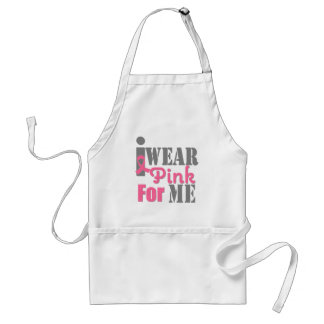 BREAST CANCER PINK RIBBON For Me Adult Apron