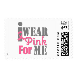 BREAST CANCER PINK RIBBON For Me Postage Stamps