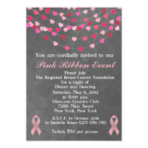 Breast Cancer Pink Ribbon Fundraiser Invitation