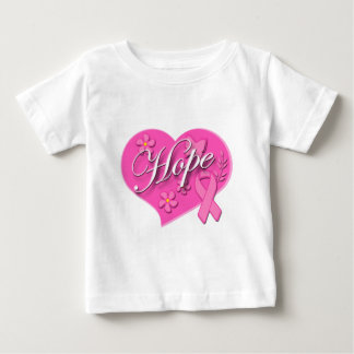 Breast Cancer Pink Ribbon HOPE Heart Baby T-Shirt