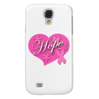 Breast Cancer Pink Ribbon HOPE Heart Samsung S4 Case